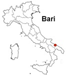 Italy map with Bari