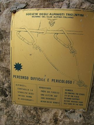 Via ferrata sign by giustino flickr