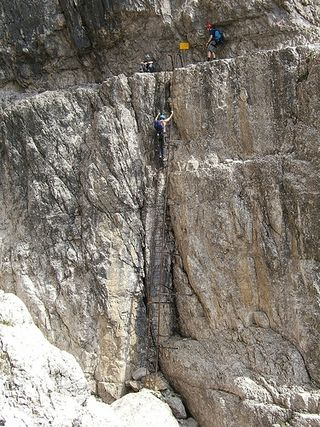 Via ferrata ladder giustino flickr