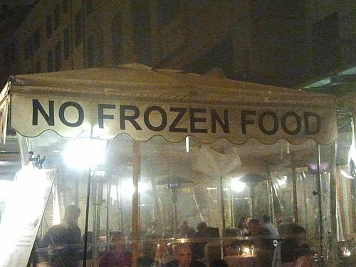 No frozen food piazza navona