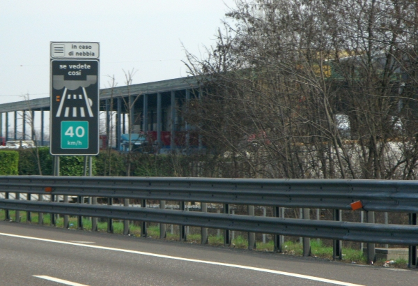 Driving Italian autostrada road signs