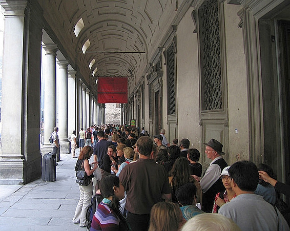 Uffizi art Gallery Florence ticket line