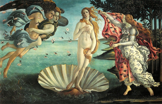 The Birth of Venus by Botticelli Uffizi Gallery Florence Italy