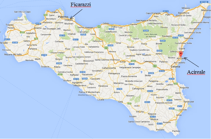 Sicily On Map Of Italy.Getting Around Sicily By Public Transport Italy Beyond The Obvious