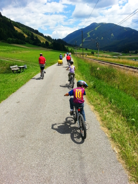 Easy - but long - bike ride to  Lienz, Austria.