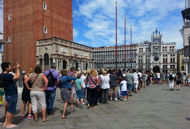 St Mark's Basilica line, luxury in Venice