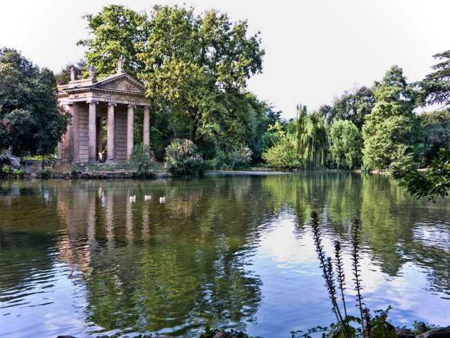 Villa Borghese, Temple of Asclepius, Rome Italy