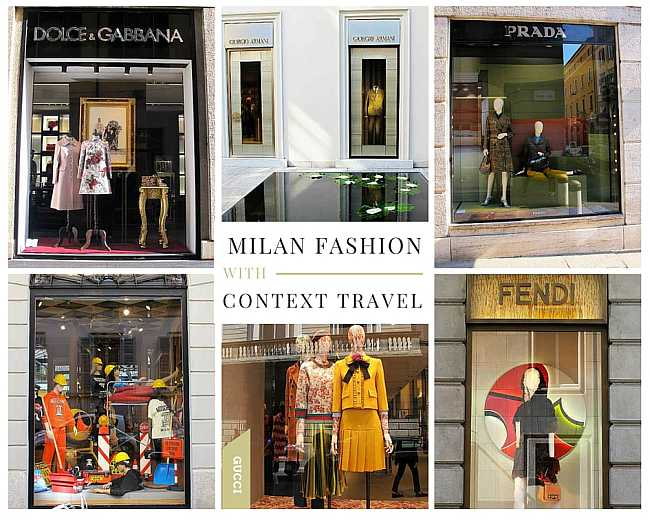 Milan Fashion, Quadrilatero d'oro shops